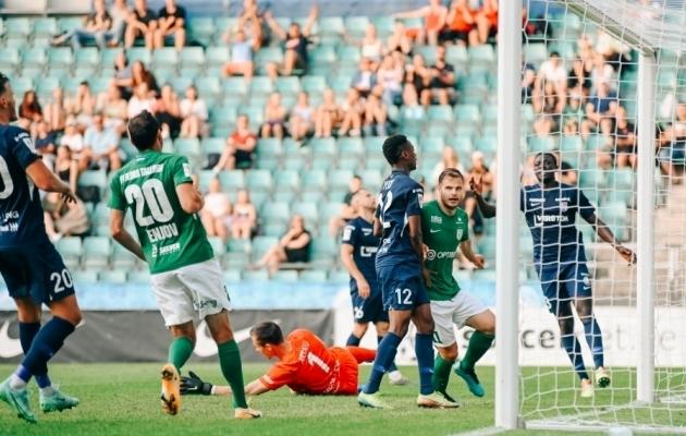 Rauno Sappinen lõi 66. minutil 3:0, aga mäng lõppes 3:3. Foto: Liisi Troska / jalgpall.ee