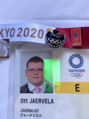 Ekuadori olümpiamärk akrediteerimiskaardi küljes. Foto: Ott Järvela