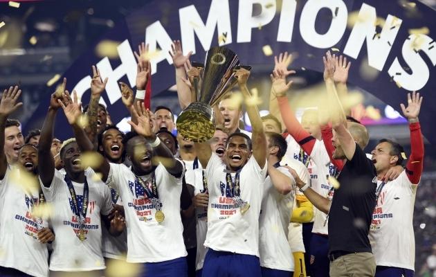 Gold Cup 2021 meister USA. Foto: Scanpix / David Becker / AP Photo