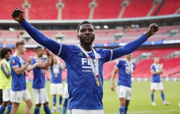 Kelechi Iheanacho täpne penalti on Leicesterile juba sel hooajal ühe karika toonud. Foto: Scanpix / Peter Cziborra / Action Images via Reuters