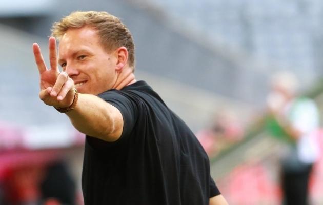Kõik rivaalid loodavad, et uus peatreener Julian Nagelsmann näitab sõrmedel, mitmendal kohal Müncheni Bayern algaval hooajal lõpetab. Foto: Scanpix / Mladen Lackovic / imago images