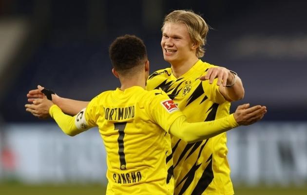 Erling Braut Haaland jäi Borussia Dortmundi, kuid Jadon Sancho lahkus. Foto: Scanpix / Jürgen Fromme / Pool via David Inderlied