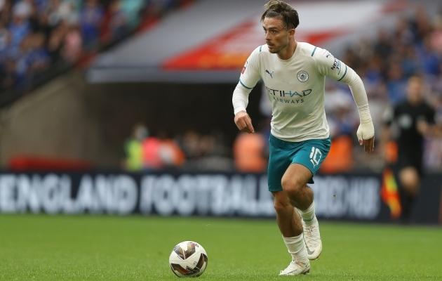 Manchester Citysse kolinud Jack Grealishist sai Premier League'i kalleim ost. Vähemalt mõneks ajaks. Foto: Scanpix / Zuma Press / Paul Terry / Sportimage