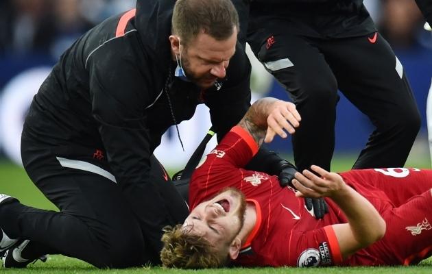 Harvey Elliott sai pühapäevases mängus vigastada. Foto: Scanpix / Peter Powell / Reuters