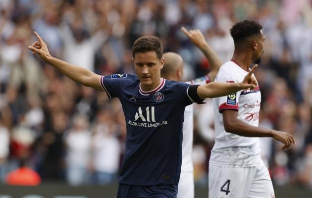 Ander Herrera lõi PSG võidumängus kaks väravat. Foto: Scanpix / Christian Hartmann / Reuters