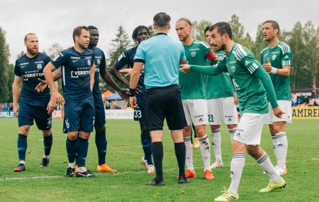 Paide ja Levadia kohtumine kujunes tuliseks. Foto: Liisi Troska / jalgpall.ee