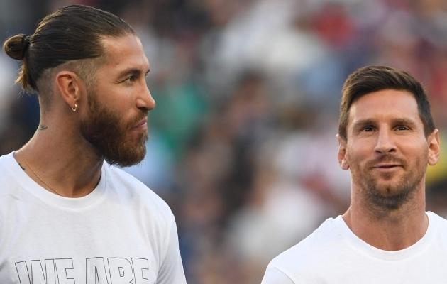 Sergio Ramos ja Lionel Messi. Foto: Scanpix / Bertrand Guay / AFP