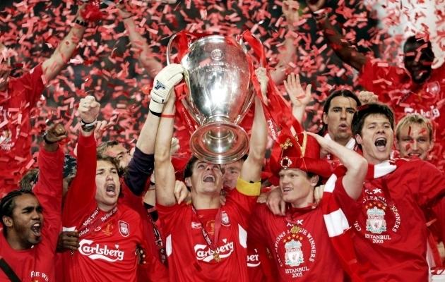 Liverpool rabeles 2005. aastal Meistrite liiga finaalis 0:3 kaotusseisust välja ja võitis lisaajal Milani. Foto: Scanpix / Darren Walsh / Livepic / Action Images