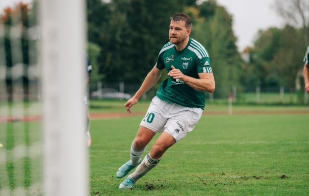 Hannes Anier tegi kaheksa viga, mida oli kolme võrra rohkem kui selles arvestuses järgmisel. Foto: Liisi Troska / jalgpall.ee