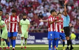 Atletico jäi sel nädalal teist korda kodumängus väravata, Joao Felix sai punase kaardi
