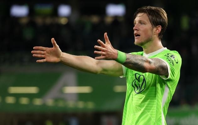 Wout Weghorst päästis Wolfsburgile punkti. Foto: Scanpix / EPA / Focke Strangmann