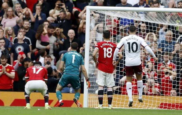 Manchester United, teil peaks ju üks teine mees penaltit lööma? Ehk kuidas Villa väravavaht Fernandese penalti eel ja järel hullu pani