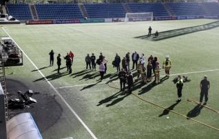 Andorra staadionil puhkes päev enne MM-valikmängu Inglismaaga tulekahju