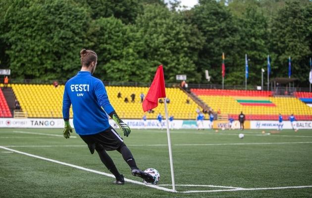 Leedu koondis peab juba aastaid oma kodumänge amortiseeruval LFF-i staadionil, kus võõrustati sel suvel Balti Turniiri raames ka Eestit. Foto: Jana Pipar / jalgpall.ee