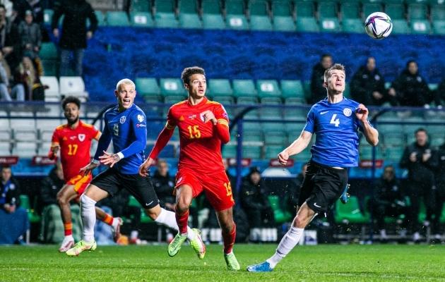 Eesti koondisel tuli MM-valikmängus tunnistada Walesi nappi 0:1 paremust. Foto: Brit Maria Tael