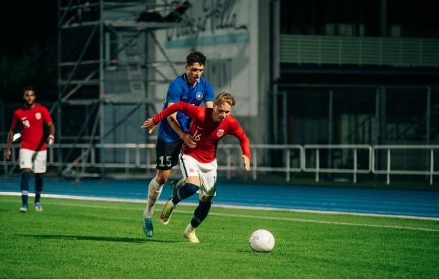 Omavahel kohtuti viimati tänavu septembris, kui külalised Norrast võitsid seisuga 5:0. Foto: Liisi Troska / jalgpall.ee