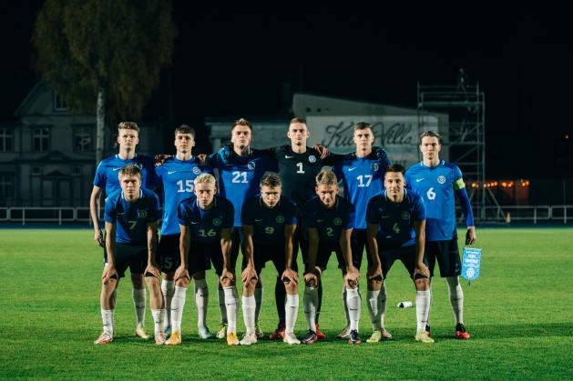 Schjönning-Larsen all vasakul. Foto: Liisi Troska / jalgpall.ee (arhiiv)
