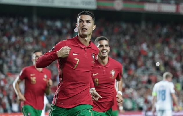 Cristiano Ronaldo murdis taaskordse rekordi. Foto: Scanpix / Gerry Schmit / Imago Images