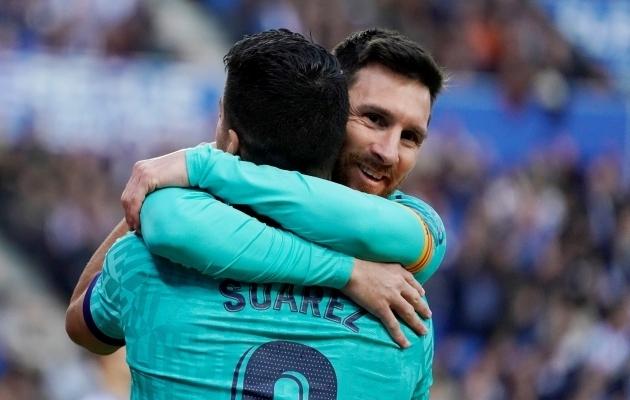 Lionel Messi ja Luis Suarez. Foto: Scanpix / Vincent West / Reuters