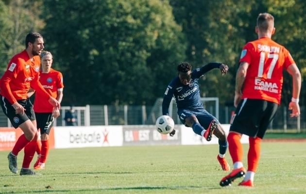 Hadji Drame tegi enim edukaid triblinguid. Foto: Liisi Troska / jalgpall.ee