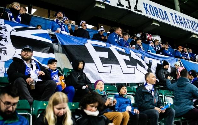 Eesti pealtvaatajad kodumängul Belgia vastu. Foto: Brit Maria Tael